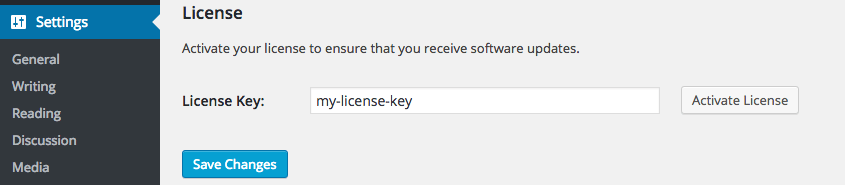 Screen capture of the License section of the Affiliate Linkalizer for Amazon Settings showing the Activate License button