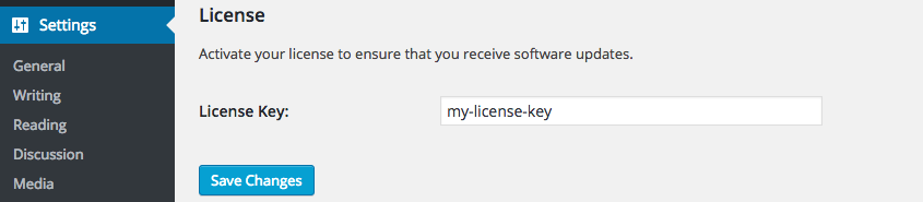 Screen capture of the License section of the Affiliate Linkalizer for Amazon Settings